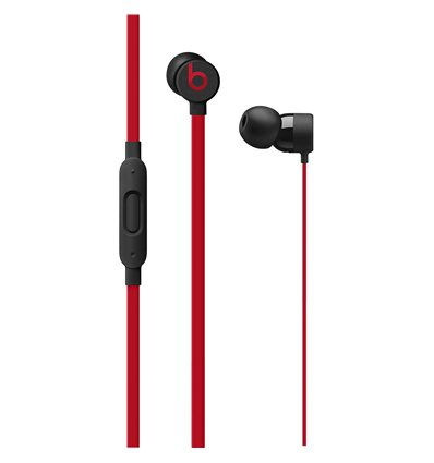 Beats urBeats3 Earphones with 3.5mm Plug - The Beats Decade Collection - Defiant Black-Red