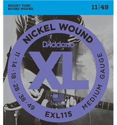 D'Addario EXL115 Nickel Wound 11-49 Medium