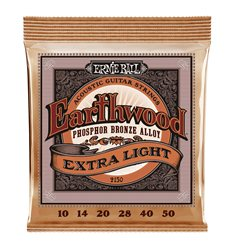 Ernie Ball 2150 Earthwood Extra Light Phosphor Bronze 10-50
