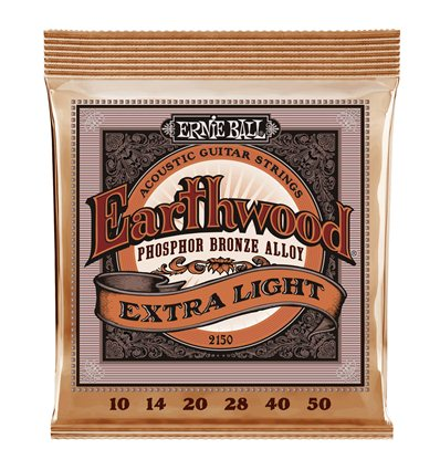 Ernie Ball 2150 Earthwood Extra Light Phosphor Bronze 10-50
