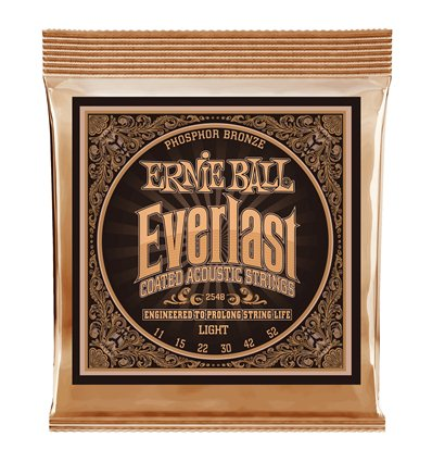 Ernie Ball 2548 Everlast Light Coated Phosphor Bronze 11-52