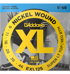D'Addario EXL125 9-46 Super Light Top Regular Bottom Set
