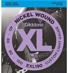 D'Addario EXL190 40-100 Custom Light Long Scale Set