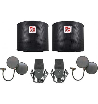 sE Electronics sE4400a Pair, Project Studio & Dual Pro Pop Bundle