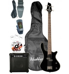 Washburn T12 Black Bass Pack