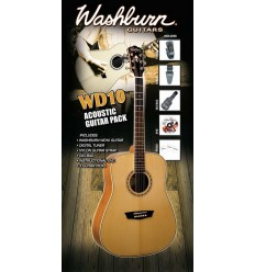 Washburn WD10 Acoustic Guitar Pack - Natural