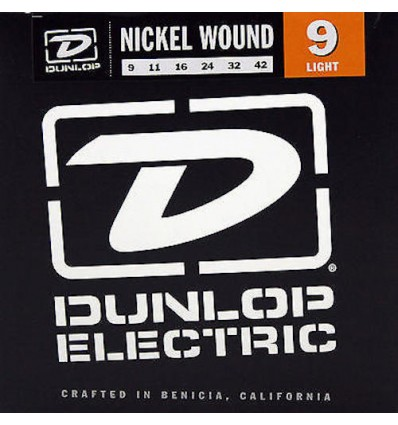 Dunlop Nickel Wound Light 9-42