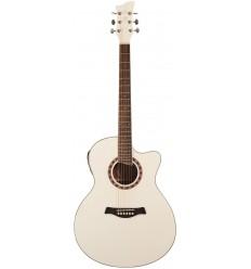 Jay Turser JTA-424CET White elektro-akustična gitara