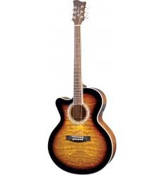 Jay Turser JTA-424QCET Tobacco Sunburst (Left Hand) elektro-akustična gitara