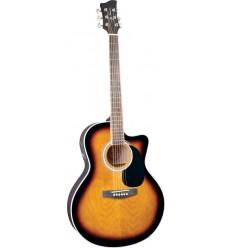 Jay Turser JTA-444CET Tobacco Sunburst elektro-akustična gitara